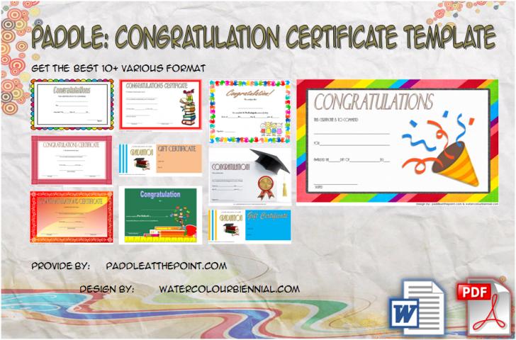 Permalink to Congratulations Certificate Template – 10+ Latest Designs