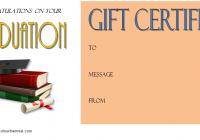 Congratulation Gift Certificate Template 1