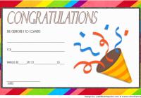 Congratulations Award Certificate Template 2
