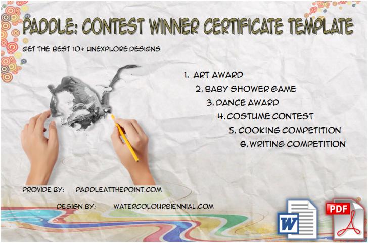Permalink to Contest Winner Certificate Template: 30+ Unexplored Designs