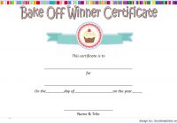 Contest Winner Certificate Template for Bake Off 1