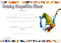 Contest Winner Certificate Template for Drawing Competition 1