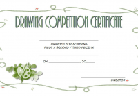 Contest Winner Certificate Template for Drawing Competition 2