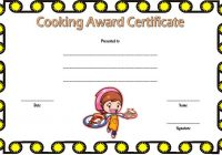 Cooking Competition Certificate Template