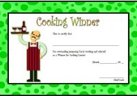 Cooking Competition Certificate Template 4