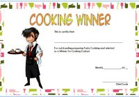 Cooking Competition Certificate Template 5