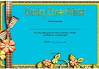 Cooking Competition Certificate Template 6
