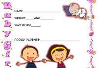 Cute Birth Certificate Template 1