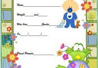 Cute Birth Certificate Template 2