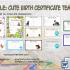Cute Birth Certificate Template
