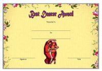 Dance Award Certificate Template 1