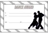 Dance Award Certificate Template 3