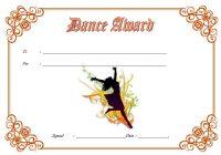 Dance Award Certificate Template 4