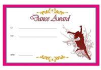 Dance Award Certificate Template 5