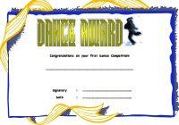 Dance Award Certificate Template 7