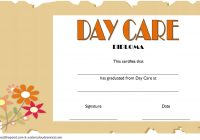 Daycare Diploma Certificate Template 1