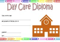 Daycare Diploma Certificate Template 3