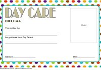 Daycare Diploma Certificate Template 5