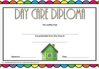Daycare Diploma Certificate Template 6