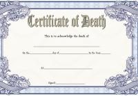 Death Certificate Template 1