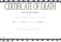 Death Certificate Template 2