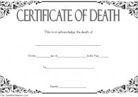 Death Certificate Template 4