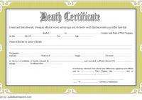 Death Certificate Template West Virginia 2