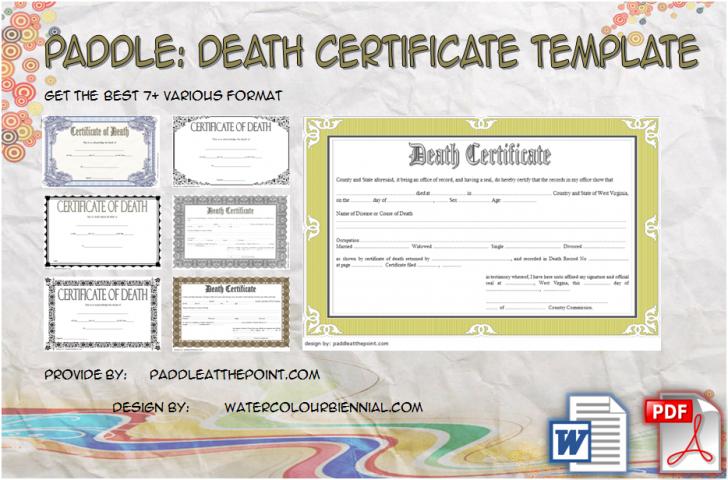 Permalink to Death Certificate Template – 7+ Varied Designs Free Download