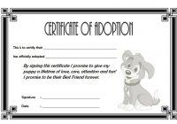 Dog Adoption Certificate Template 4