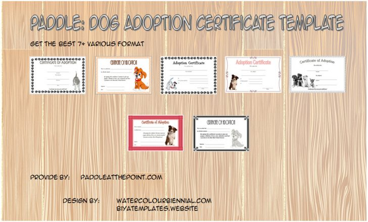 Permalink to Dog Adoption Certificate Template