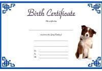 Dog Birth Certificate Template 2