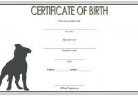 Dog Birth Certificate Template 3