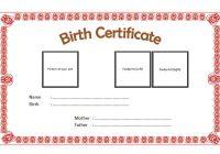Dog Birth Certificate Template 4