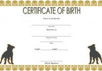 Dog Birth Certificate Template 6