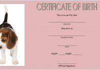 Dog Birth Certificate Template 7