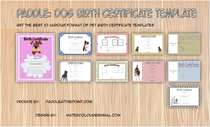 Permalink to Puppy Birth Certificate Template FREE – 10+ Special Editions