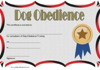 Dog Obedience Certificate Template 2