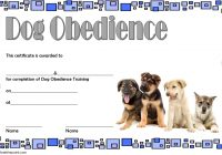 Dog Obedience Certificate Template 3