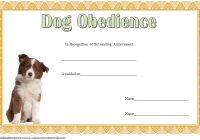 Dog Obedience Certificate Template 4