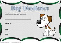 Dog Obedience Certificate Template 5