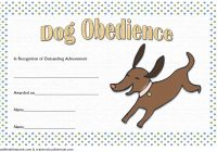 Dog Obedience Certificate Template 6