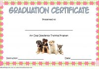 Dog Obedience Certificate Template 7