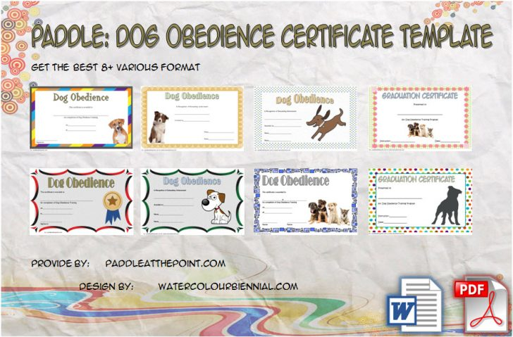 Permalink to Dog Obedience Certificate Template – 8+ Latest Designs