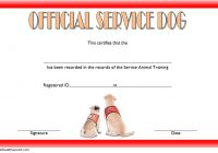 Dog Training Certificate Template 1
