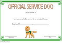 Dog Training Certificate Template 3