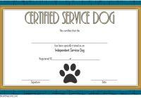 Dog Training Certificate Template 7