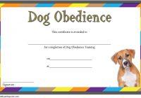 Dog Training Certificate Template 8