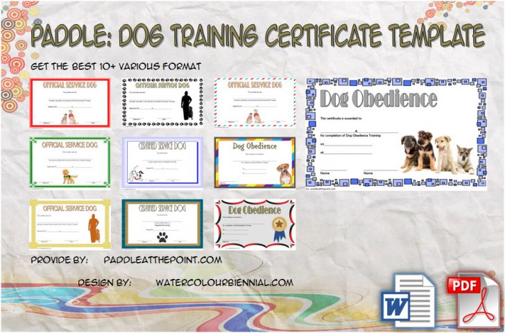 Permalink to Dog Training Certificate Template (Free 10+ Best Ideas)