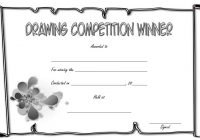 Drawing Competition Certificate Template 2