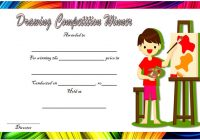 Drawing Competition Certificate Template